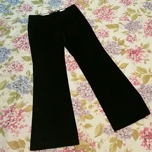 Theory Black Cord Trouser Wide Leg Pants 10